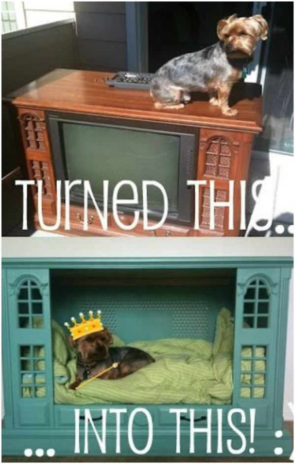 Upcycled Television Console Bed
