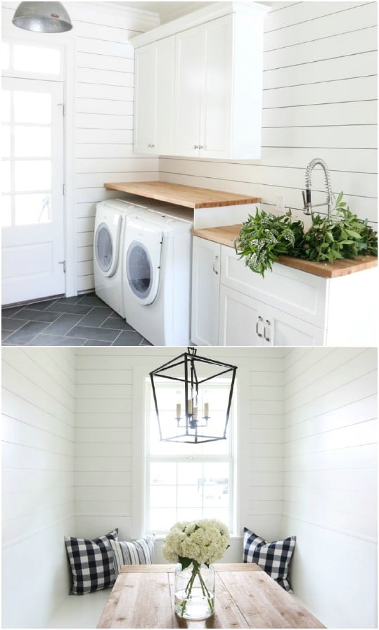 Shiplap Laundry Room Makeover