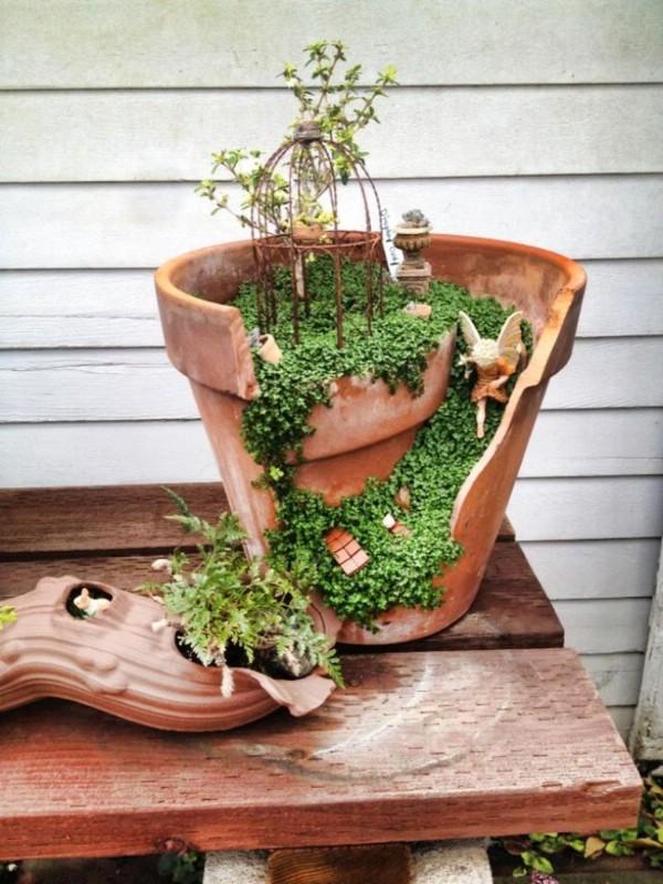 Broken Pottery Garden