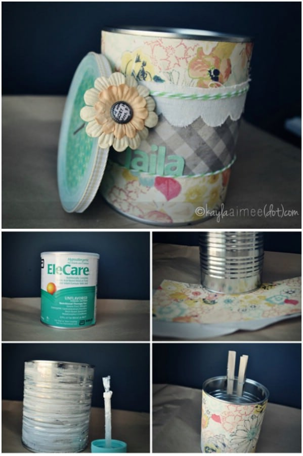 Upcycle Formula Cans Into A Piggy Bank