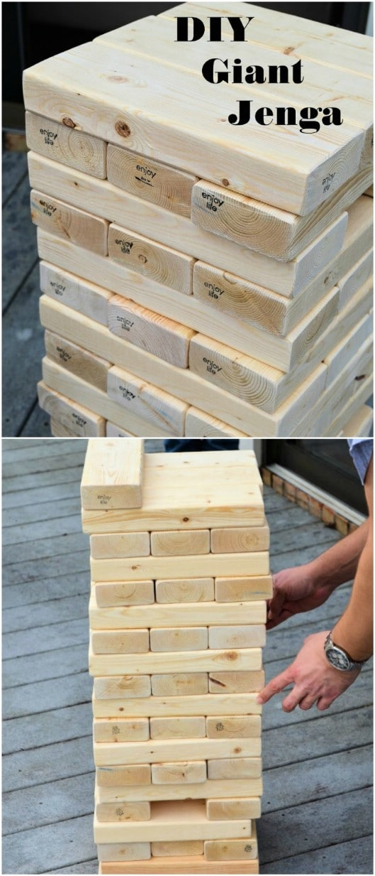 Easy Homemade Life Size Jenga Game