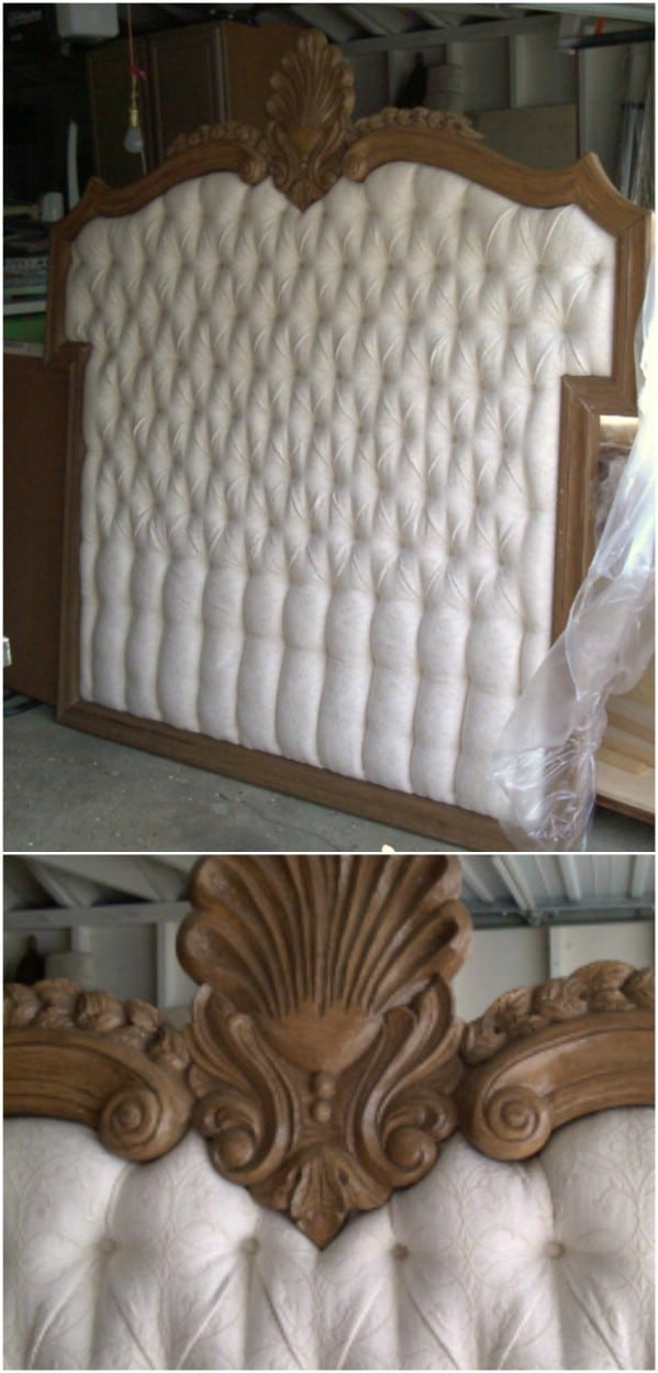 Repurposed Mirror Headboard