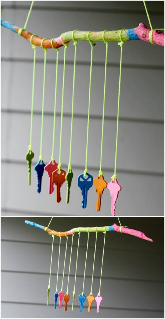 Kids Craft – DIY Key Wind Chime