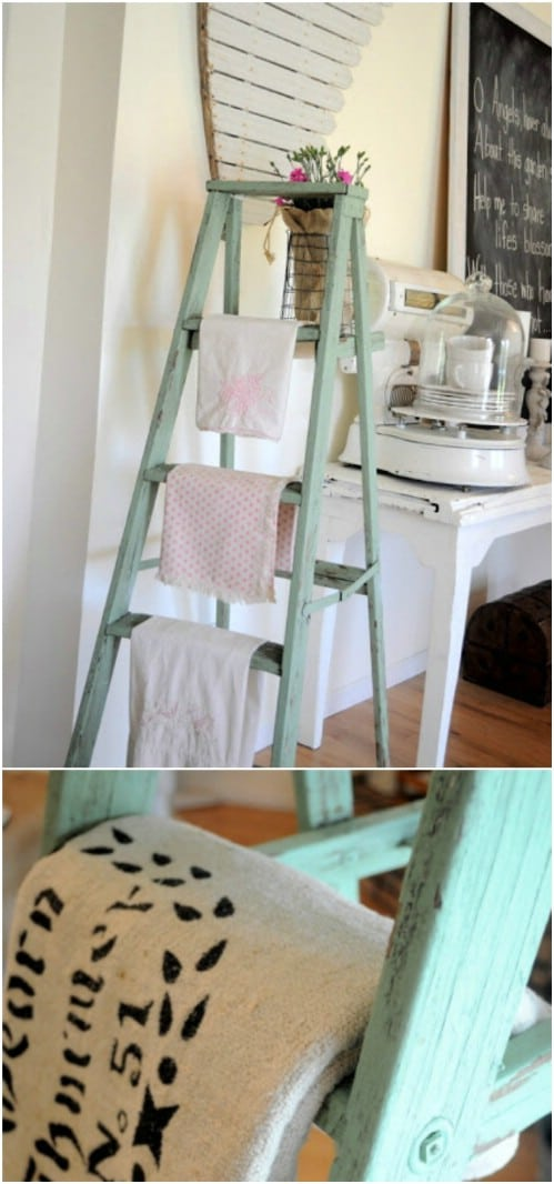 DIY Kitchen Linen Rack