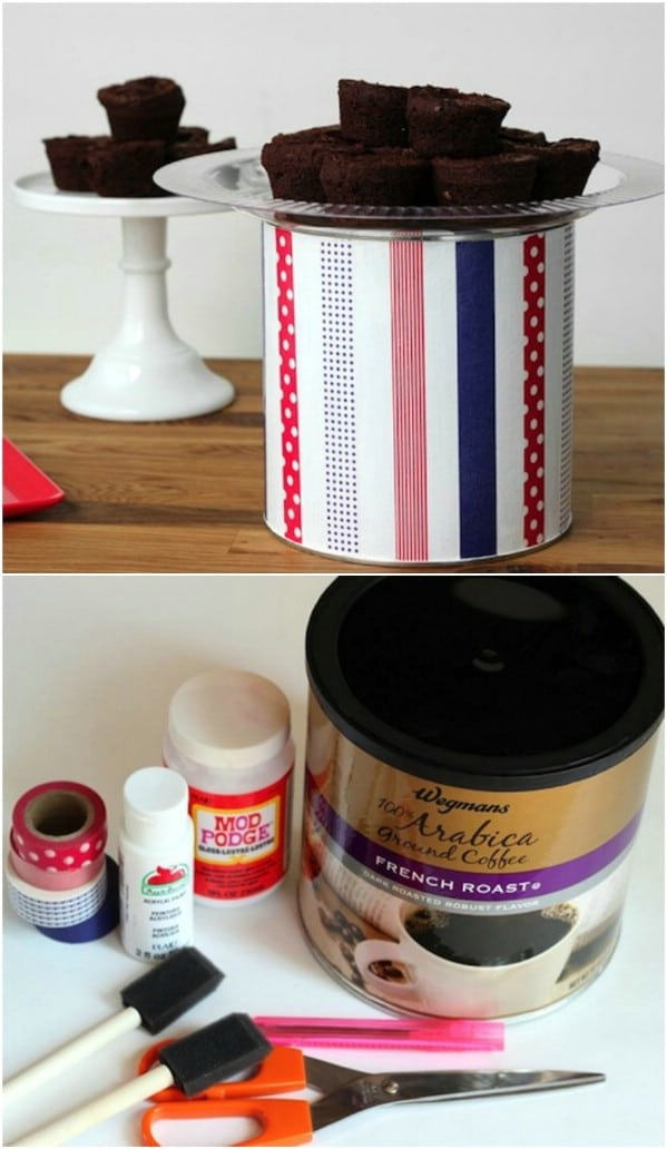 Easy Upcycled Coffee Can Cake Plate