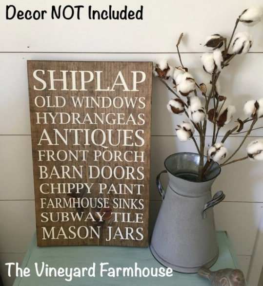 Rustic Shiplap Décor Signs