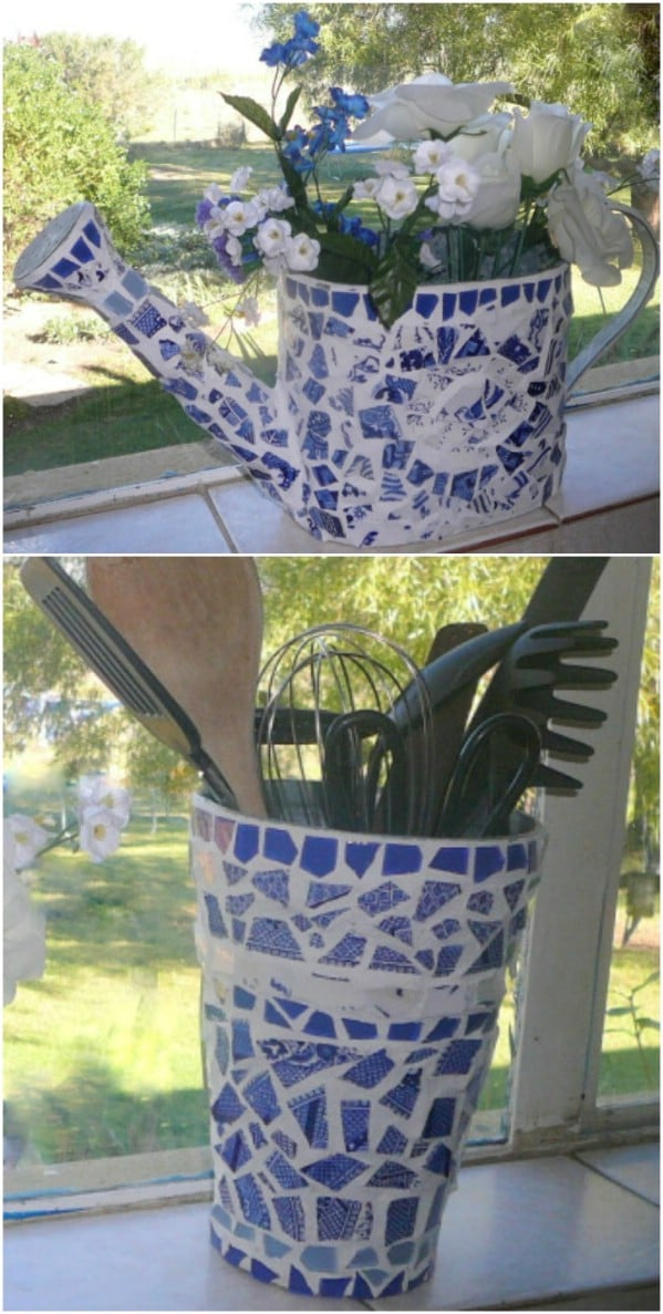 DIY Mosaic Watering Can
