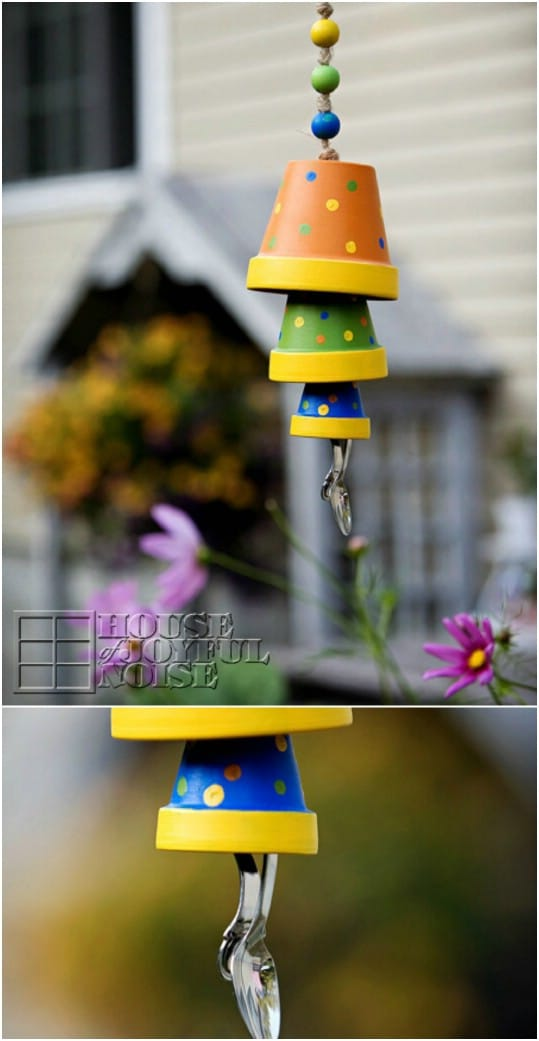 Repurposed Flower Pot Wind Chime