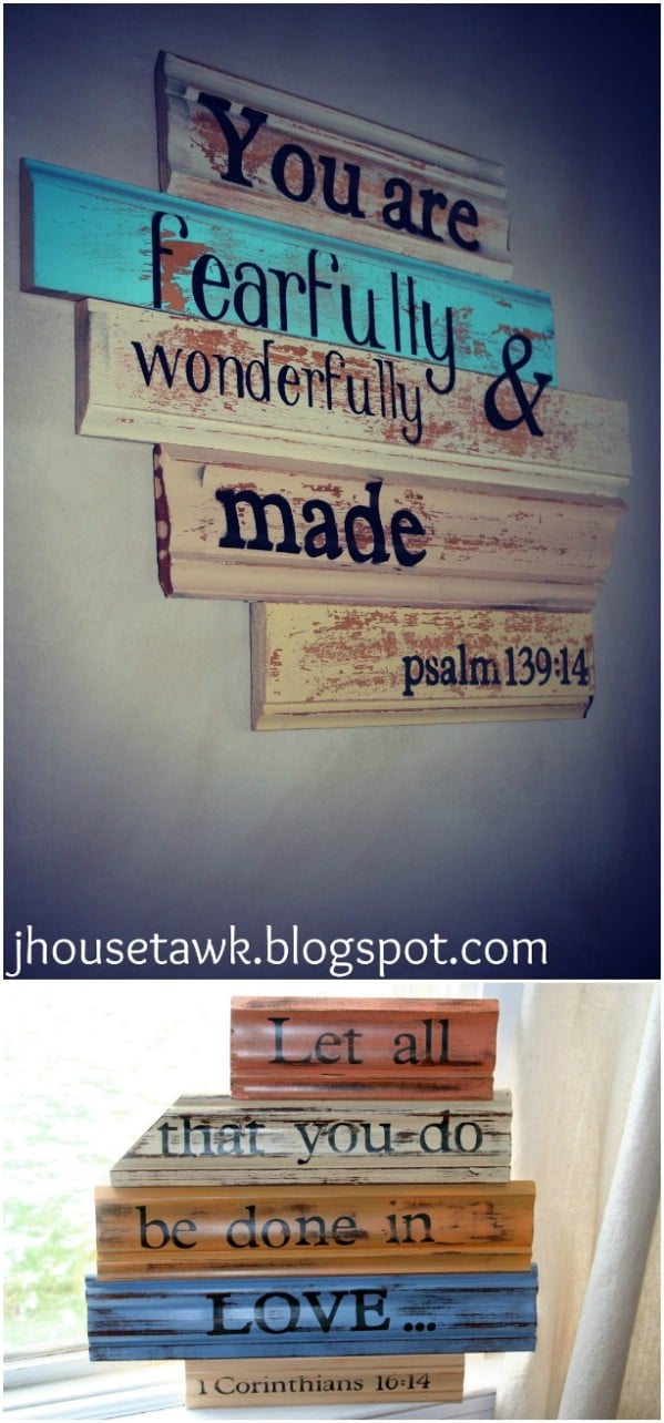 Multi-Colored Signs From Wood Scraps