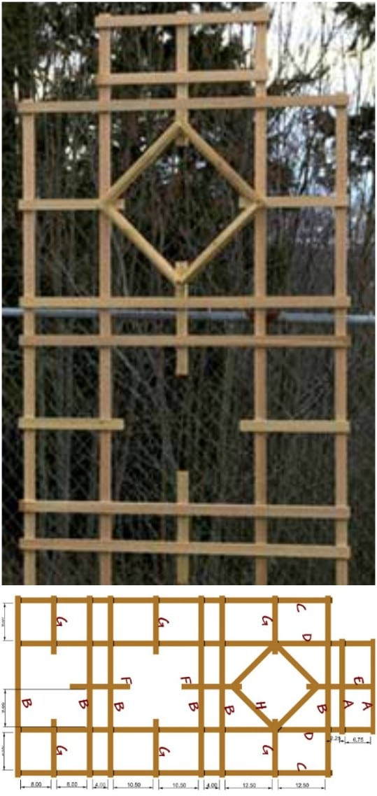 Intricate Wooden Wall Trellis