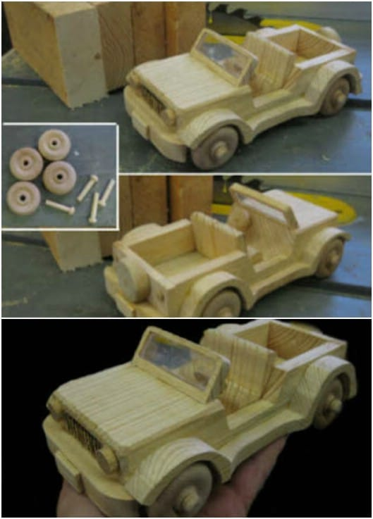Wooden 2X4 Jeep