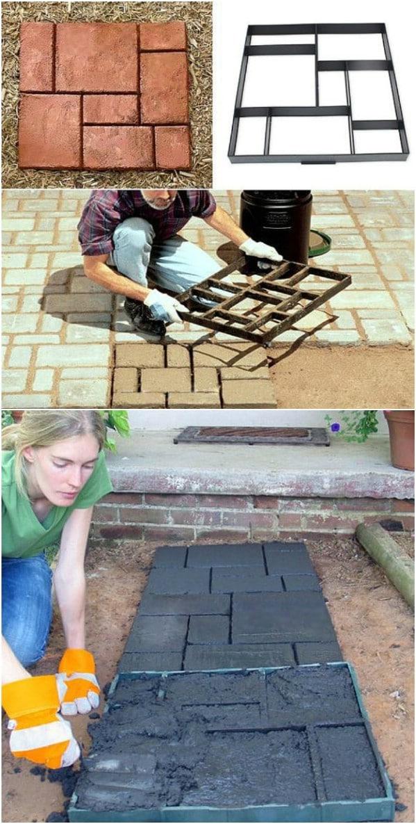 Faux Brick Walkway Stones