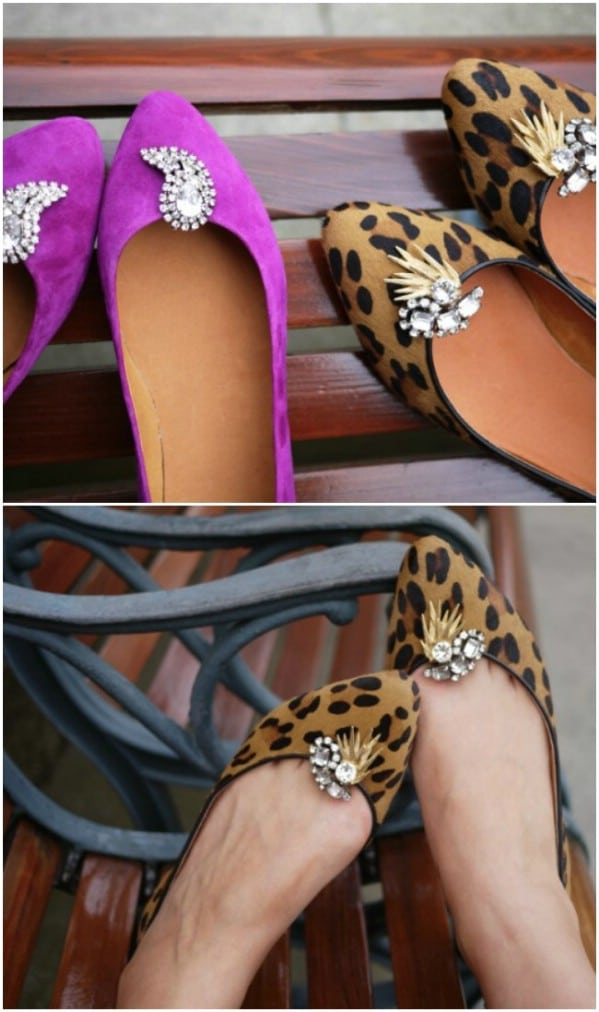 Repurposed Costume Jewelry Shoe Clips