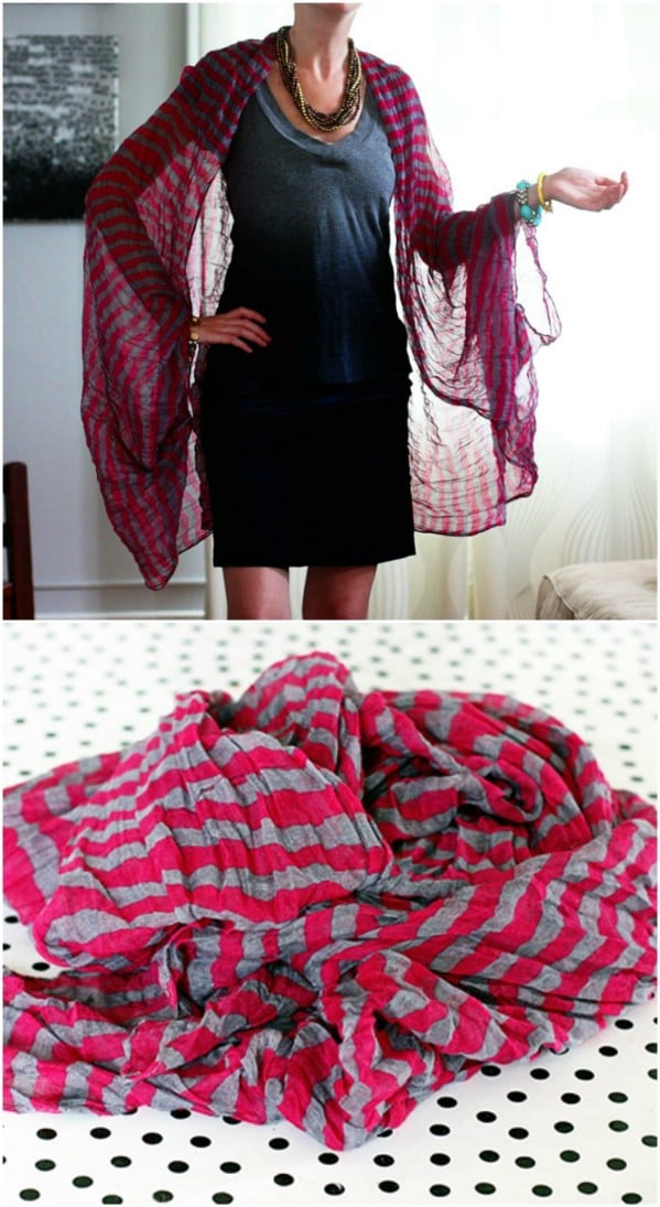 Easy DIY Summer Scarf Shrug