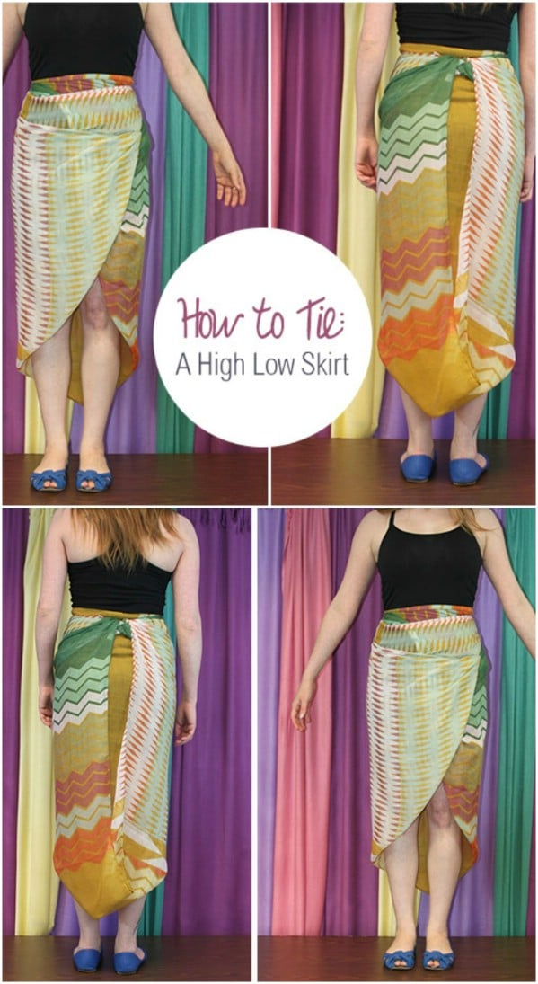 Easy High Low Scarf Skirt