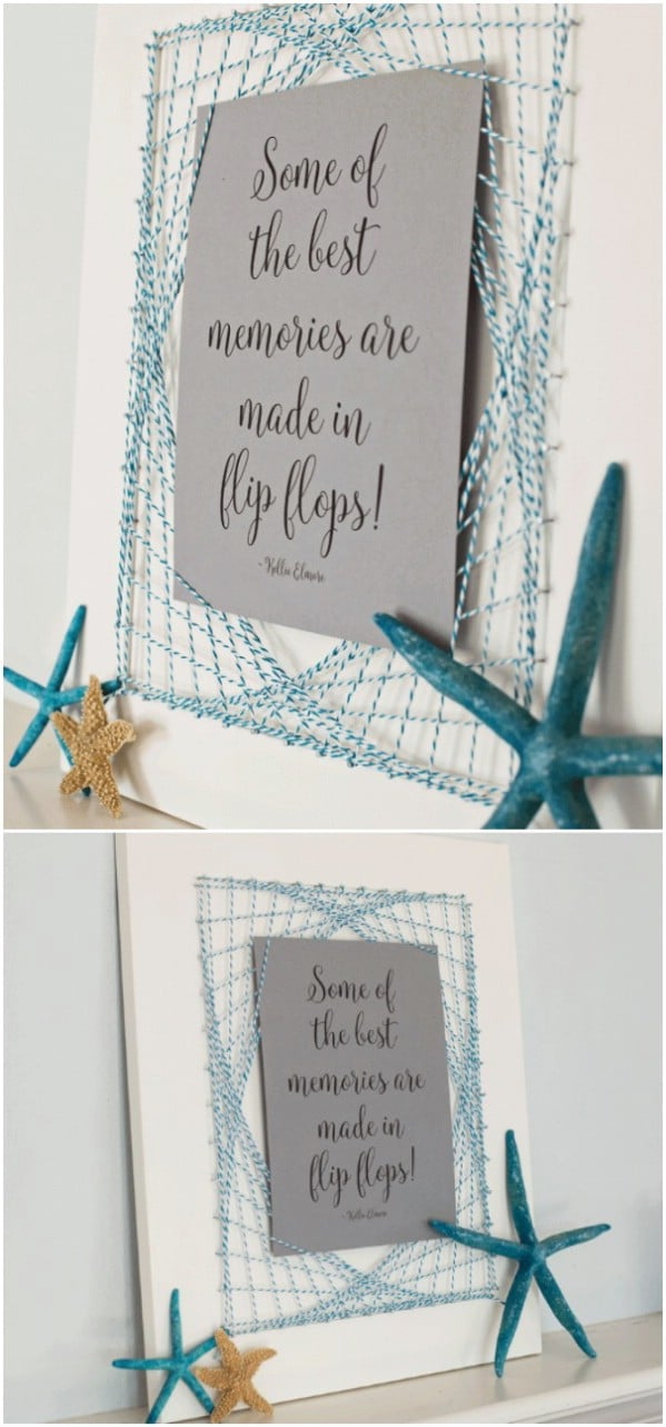 Easy Cabinet Door String Art