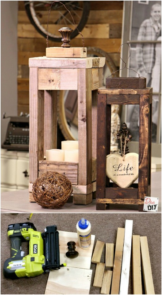Easy Scrap Wood Luminaries