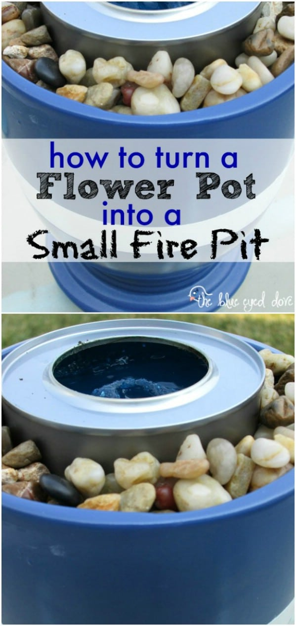 Small Flower Pot Fire Pit