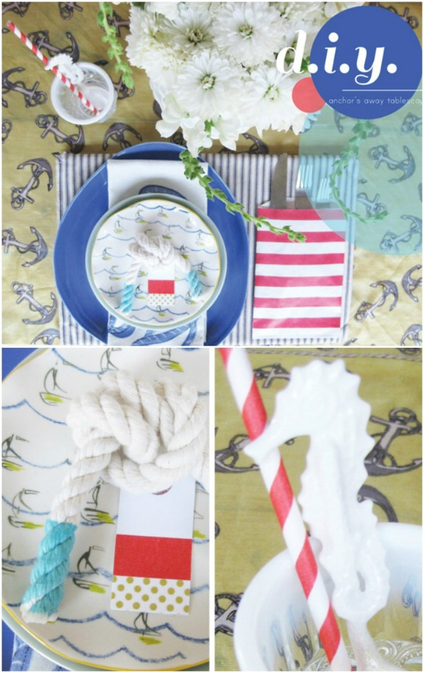 Beautiful Repurposed Scarf Tablescape