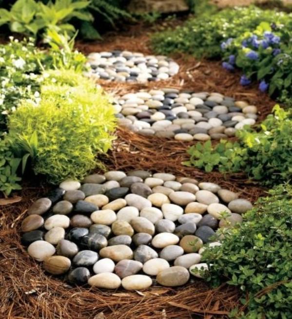 Stone Footprint Walkway Stones