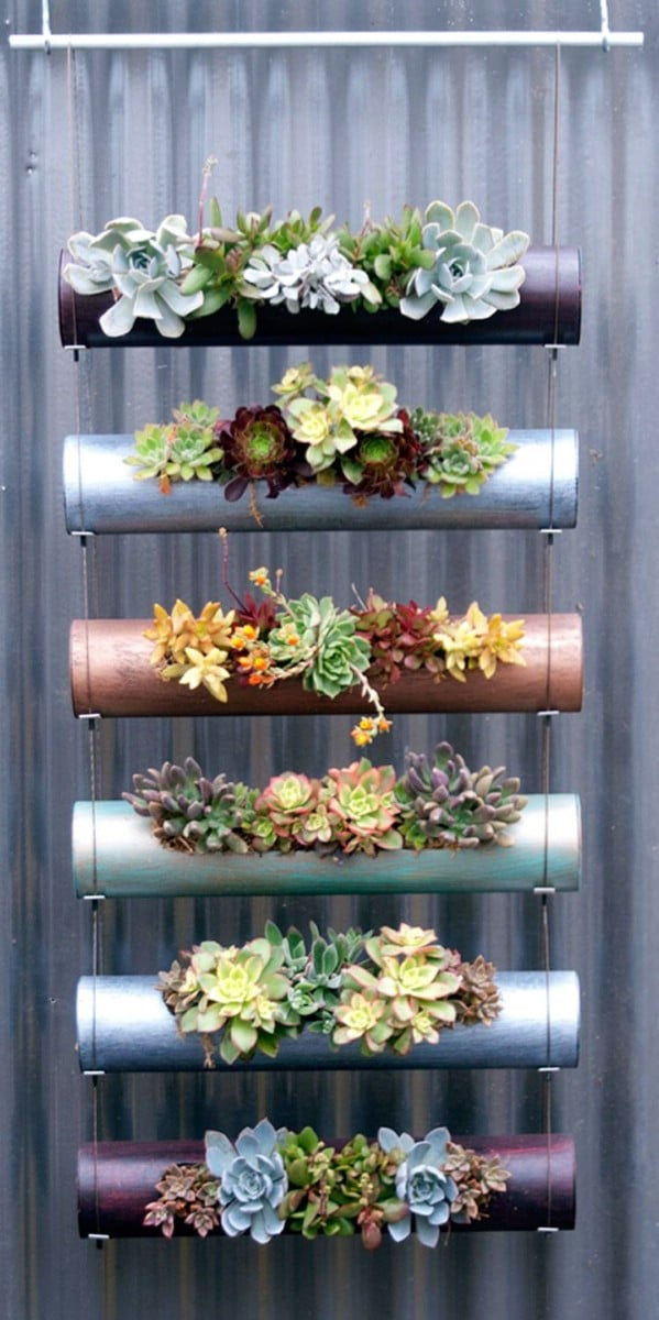 PVC Pipe Succulent Garden Planter