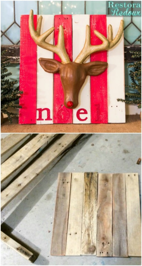 DIY Christmas Deer Sign