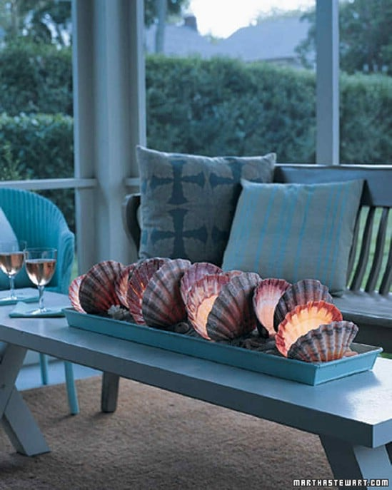 Glowing Seashell Table Lantern