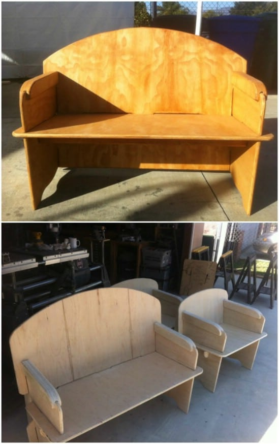 Upcycled Plywood Love Seat