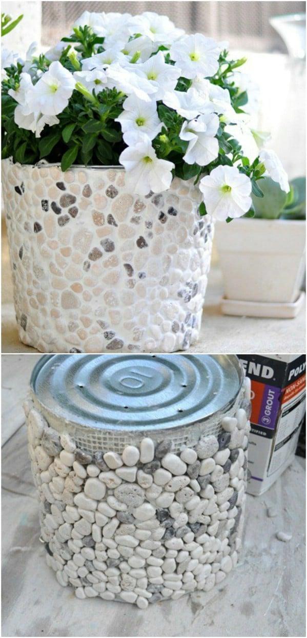 Beautiful Coffee Can Stone Vase