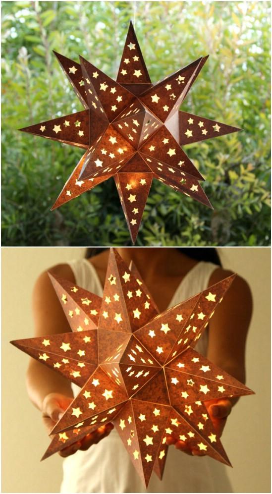 Rustic Metal Star Lantern