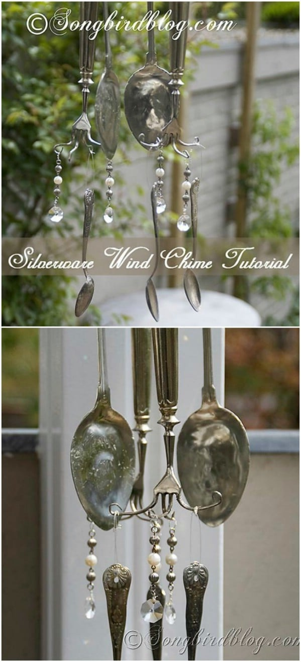 Upcycled Kitchen Utensil Wind Chime