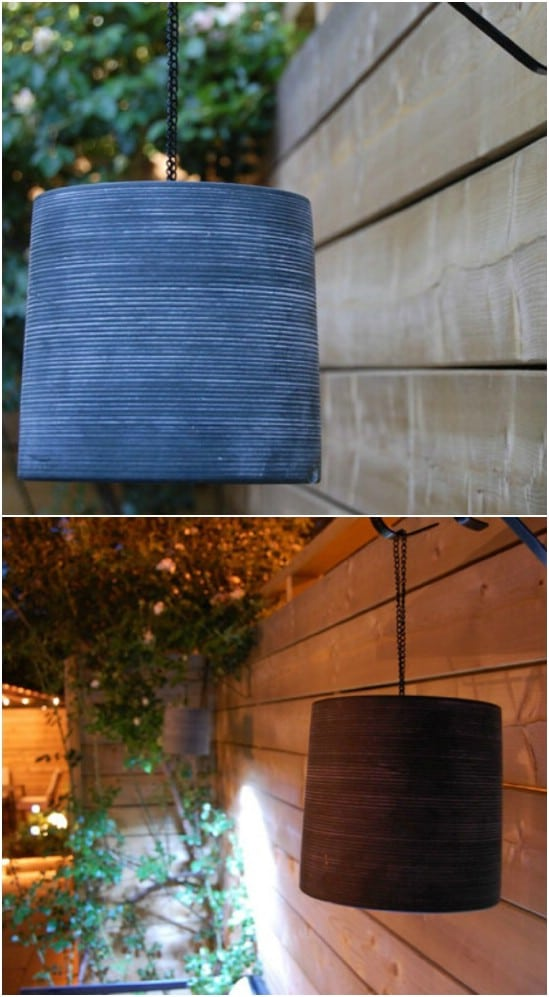 DIY Clay Pot Lamp Shade