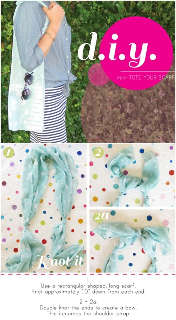 DIY Mini Scarf Tote Bag