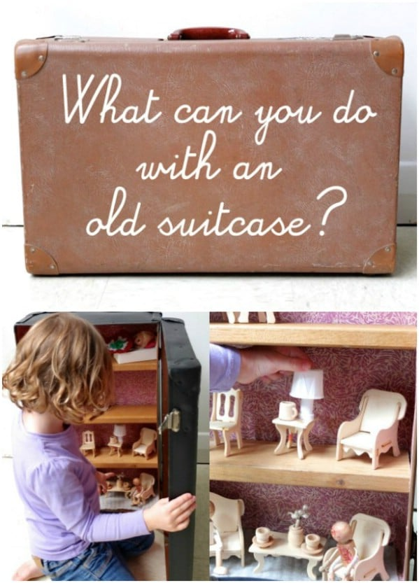 Suitcase Repurposed Into Doll House