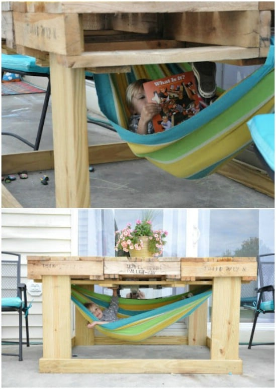 Pallet Table With A Hidden Twist