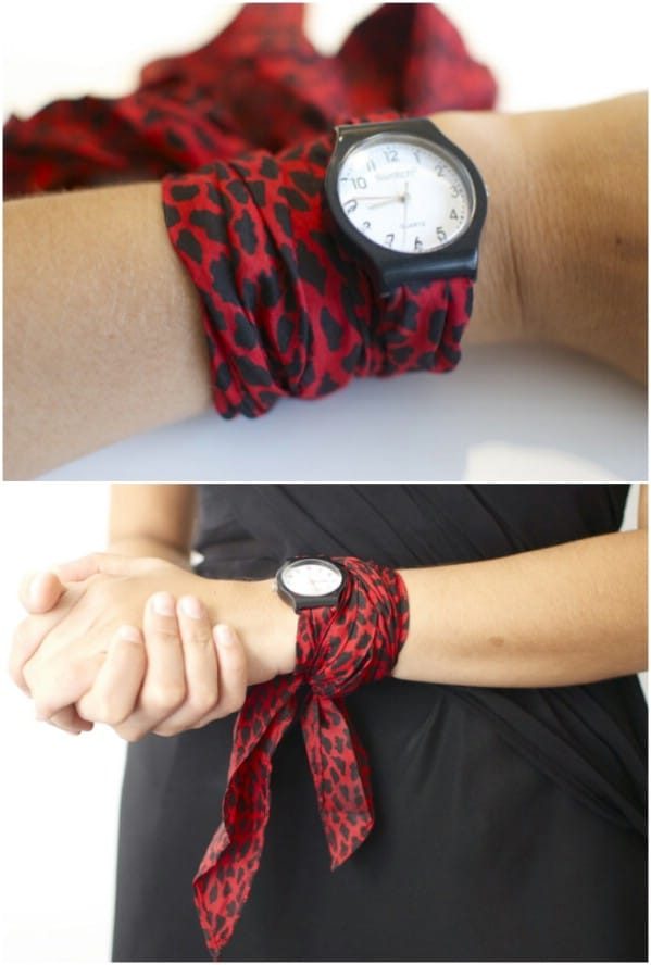 DIY Silk Scarf Watch