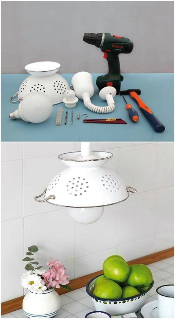 Repurposed Colander Light