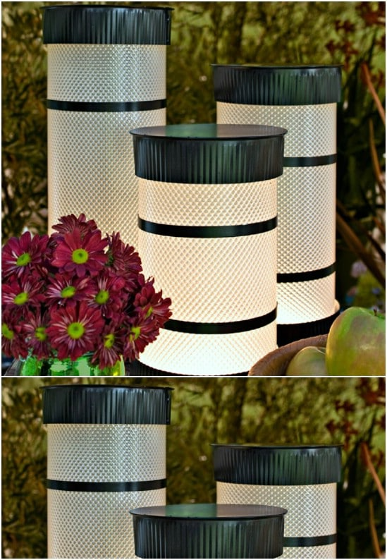 DIY Tube Garden Lights