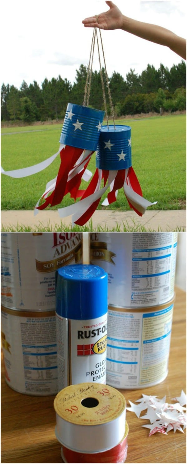 Coffee Can Fourth Of July Windsock