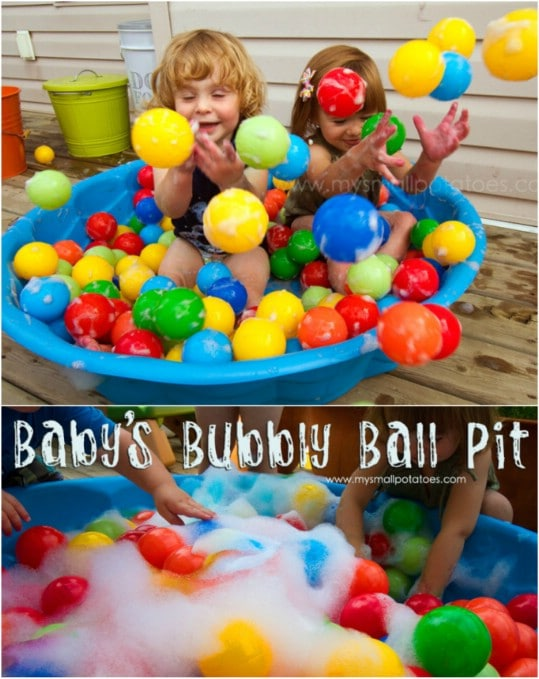 Perfect DIY Bubbly Ball Pit
