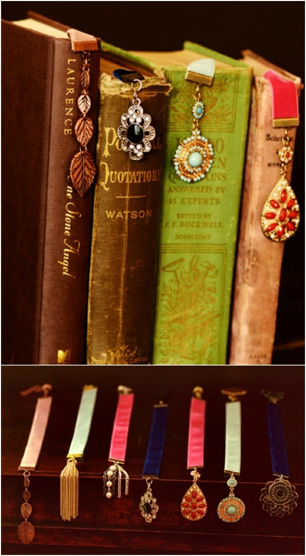 Vintage Jewelry Turned Bookmarks