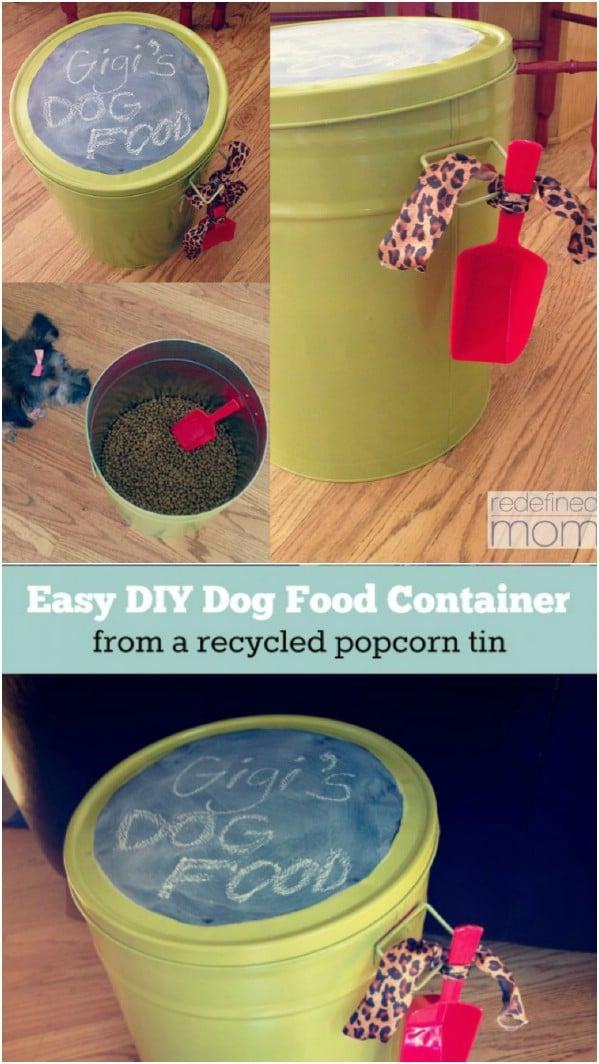 DIY Chalkboard Dog Food Container