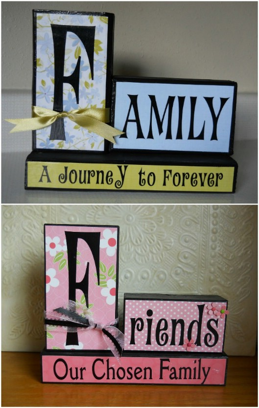 DIY Wooden Family Decor