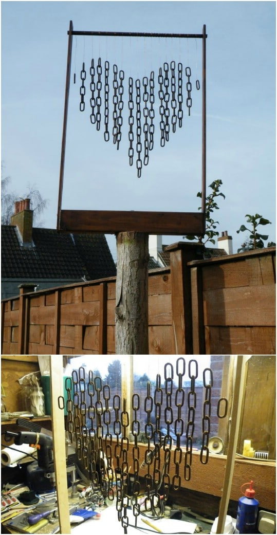 Chain Heart Valentine Wind Chime