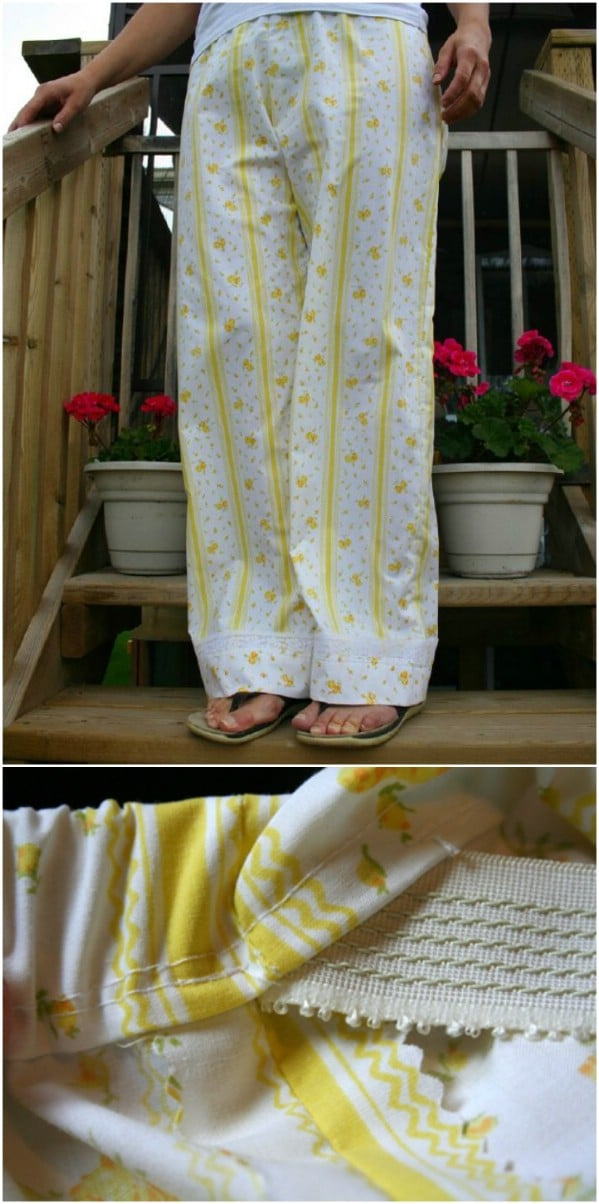 Repurposed Sheet Pajama Pants