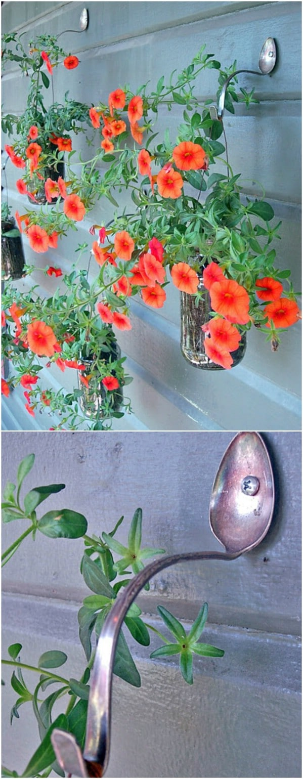 Bent Spoon Plant Hangers