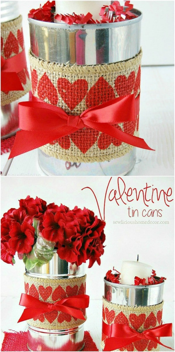 Burlap Covered Decorative Coffee Cans