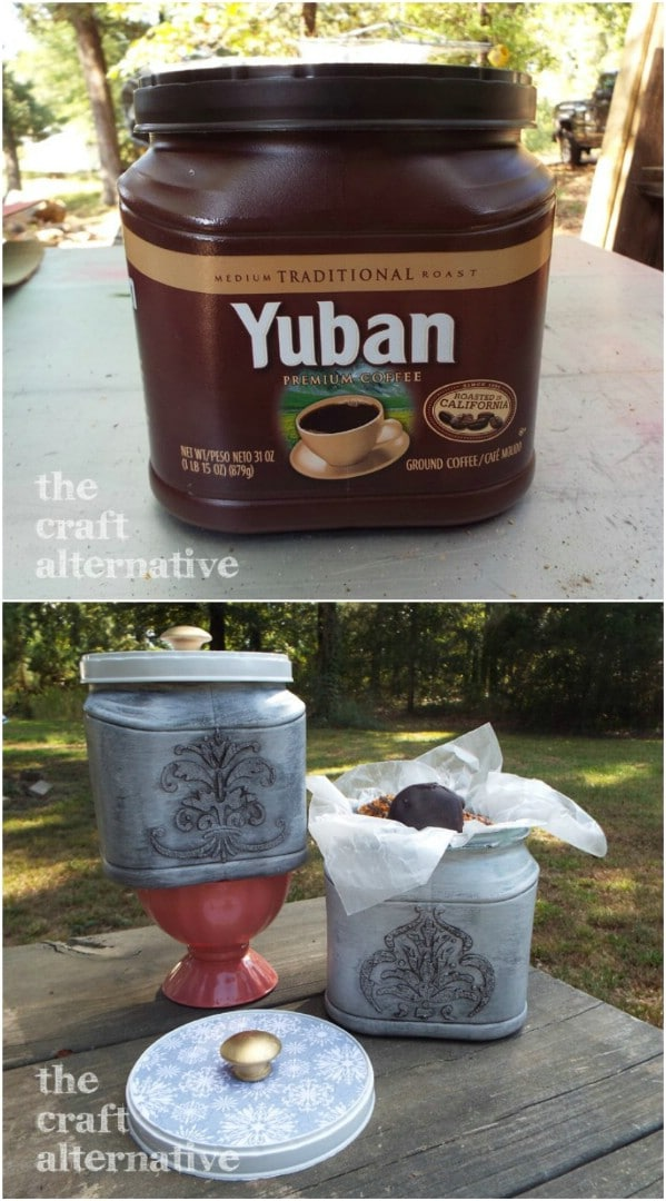 Decorative Repurposed Coffee Can Gift Box