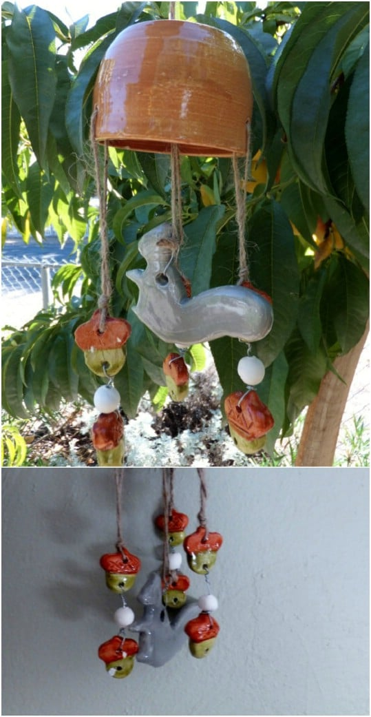 Handmade Ceramic Stone Wear Wind Chime