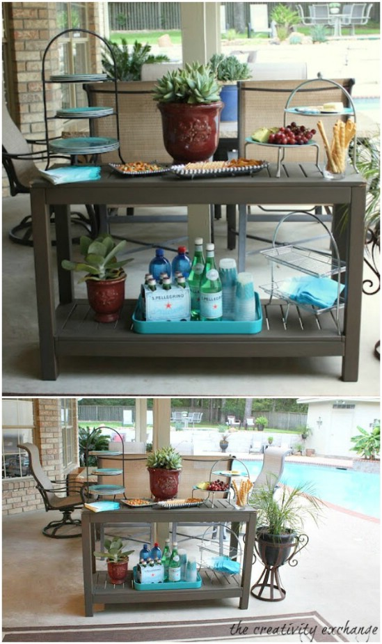 Easy Side Table Turned Outdoor Buffet
